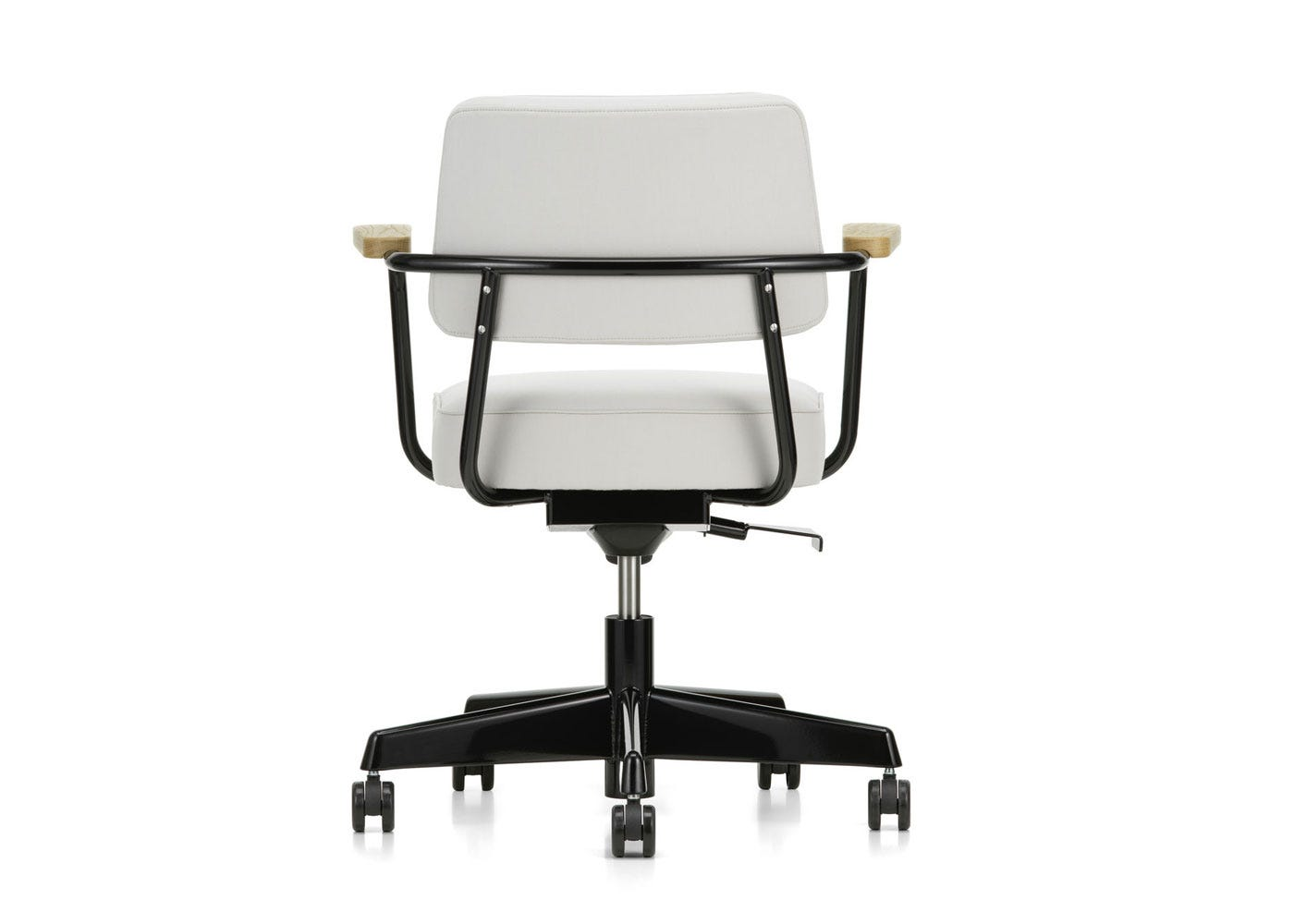 As Shown: Fauteuil Direction Pivotant Office Chair in Twill Pearl Back Profile