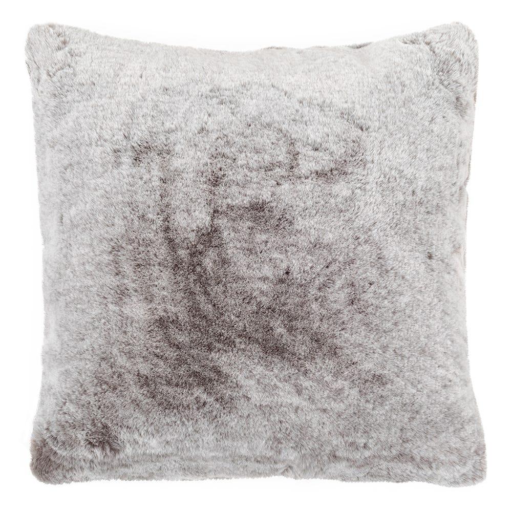 Faux Fur Cushion Grey 45 x 45cm