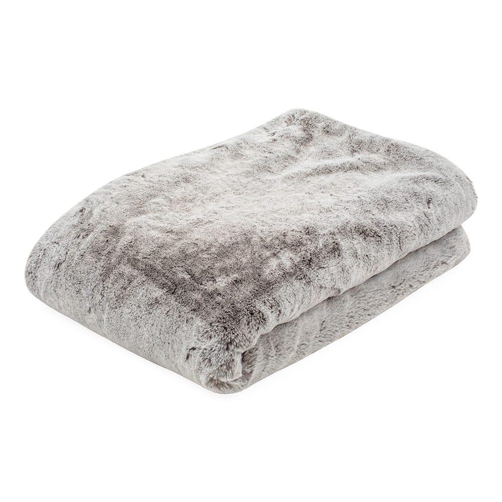 Faux Fur Throw Grey 130 x 170cm