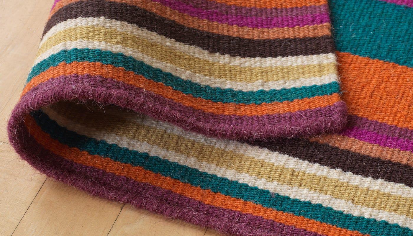 Feel Rainbow Stripe Rug Heal S