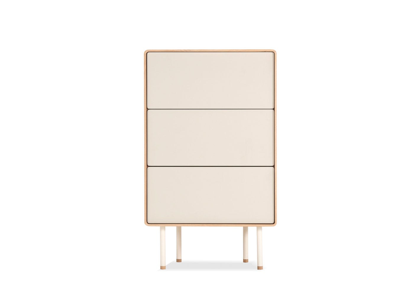 As shown: Fina Drawer 60 mushroom - front profile.