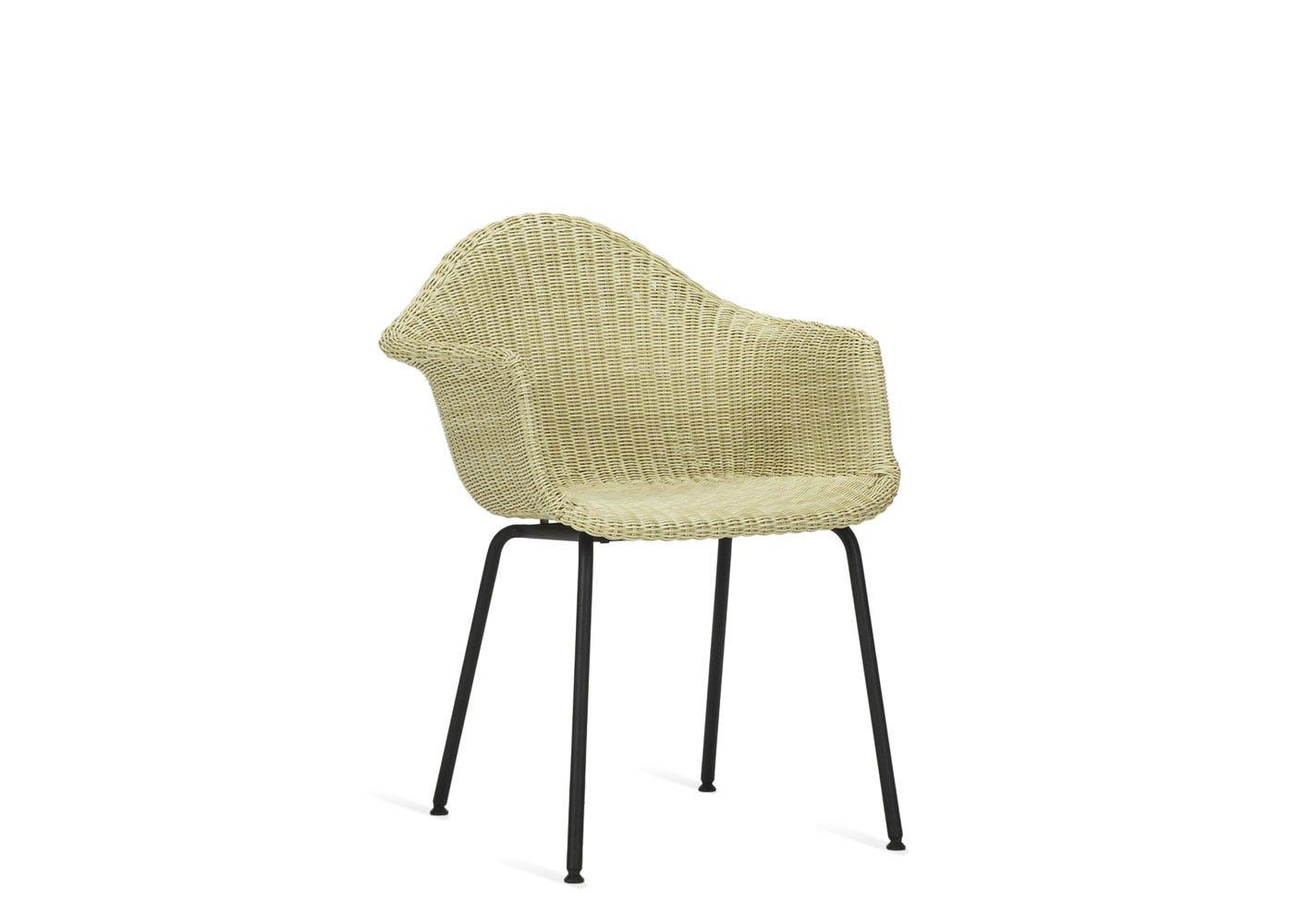 As shown: Finn dining chair in cream.