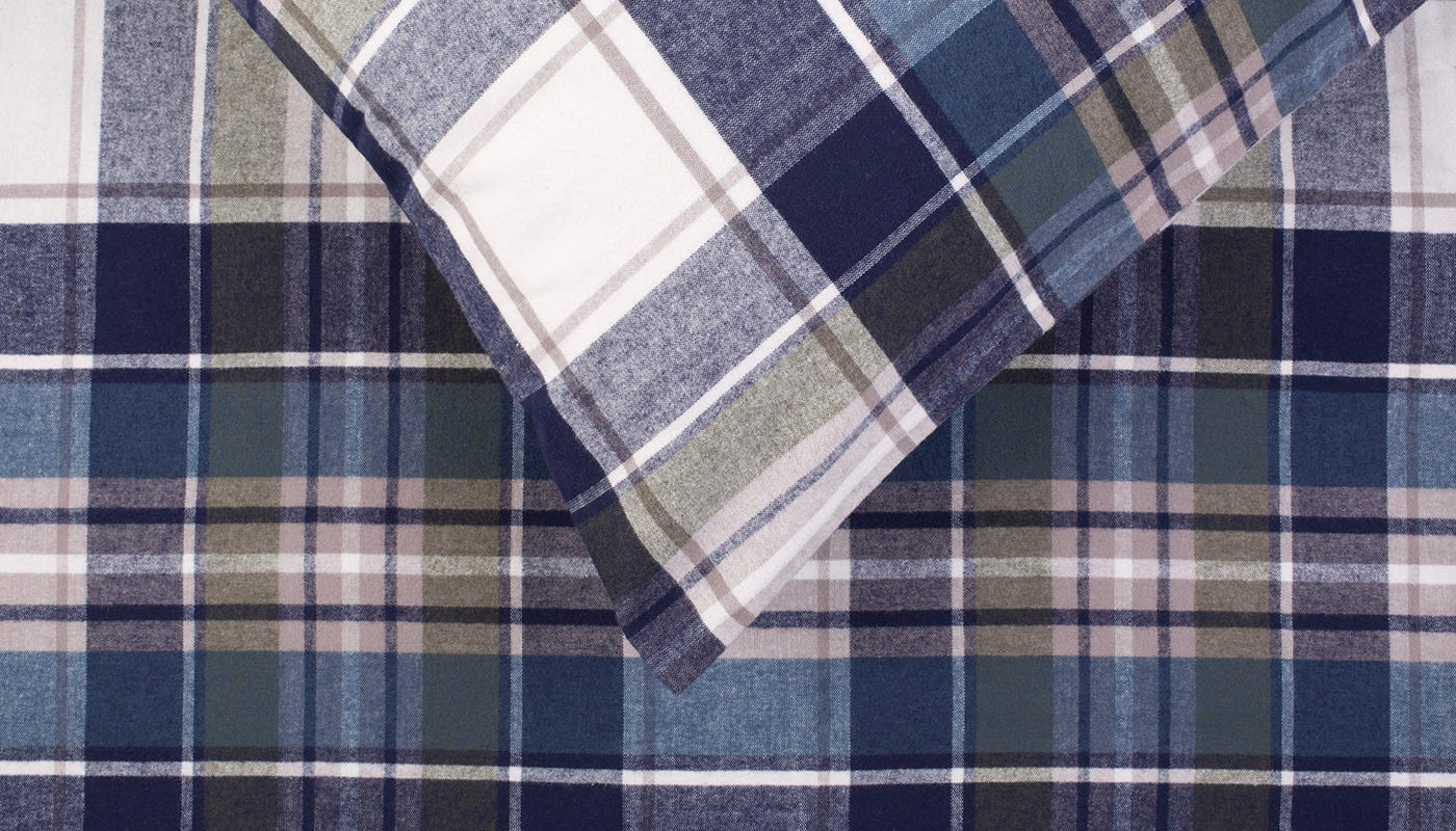 Brushed Cotton Flannel Check Bed Linen Discontinued. byHeal s 770a99cdf