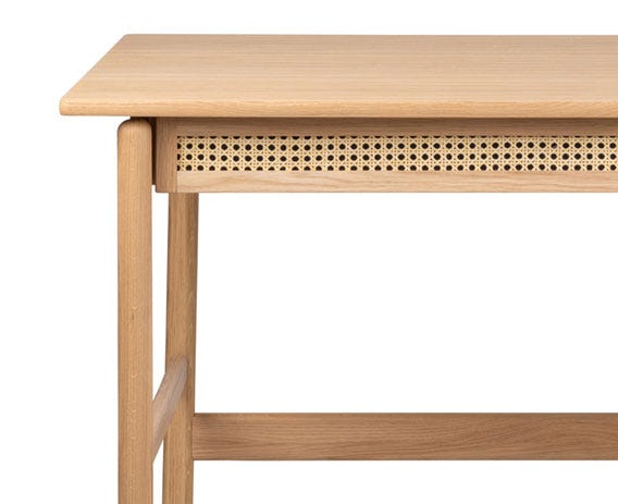 Flette's neat compact design allows it to double up as a dressing or console table.