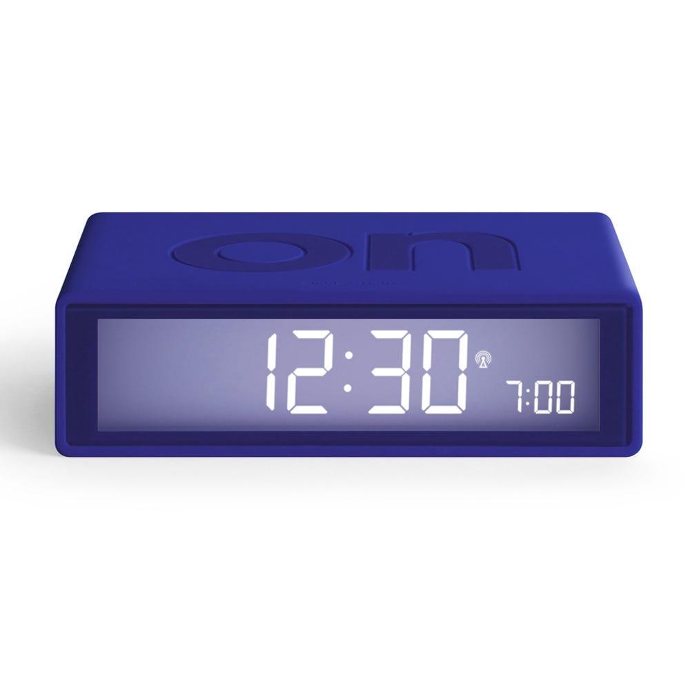 Lexon FLIP Rubber Alarm Clock Blue