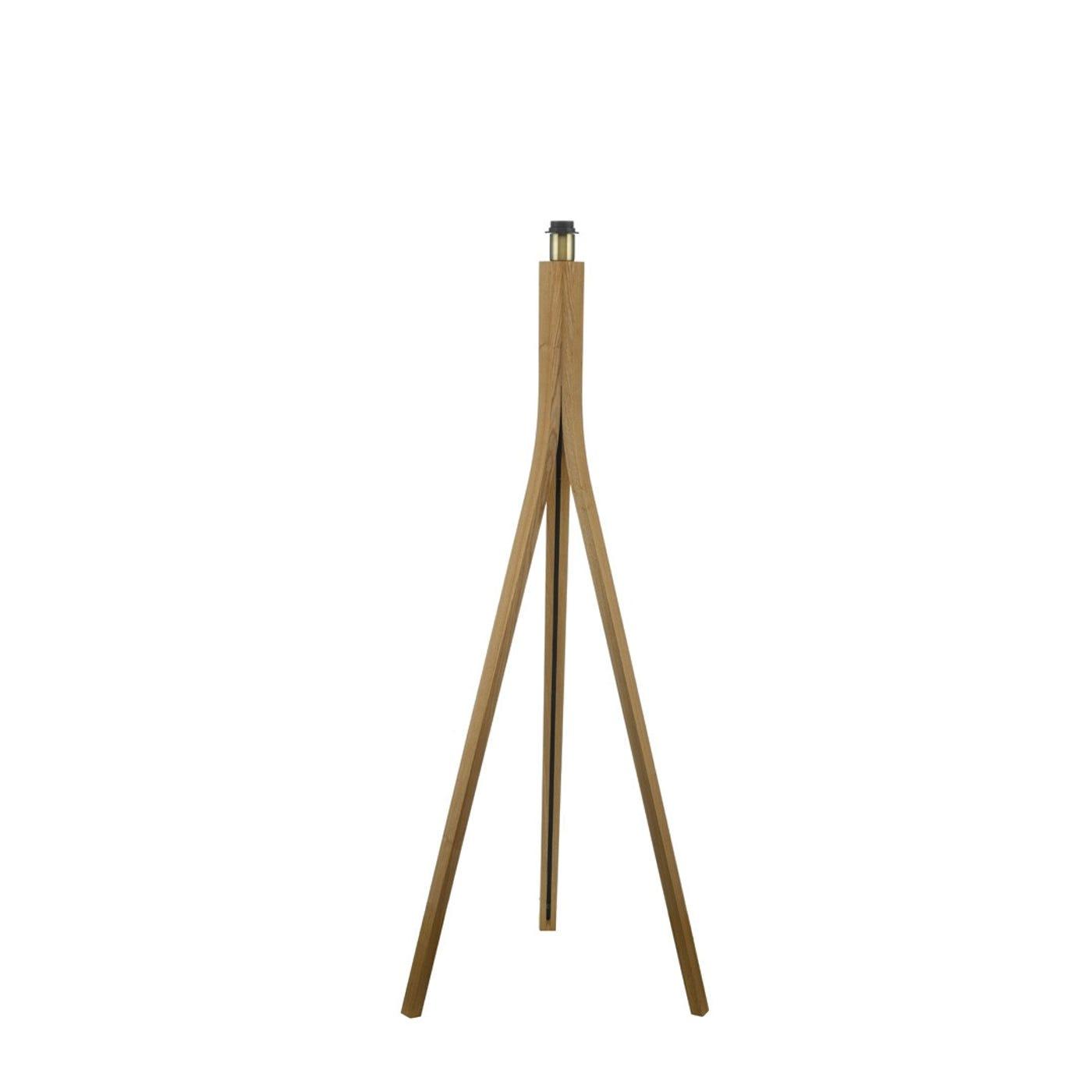 Baxter Wooden Floor Lamp Base Oak