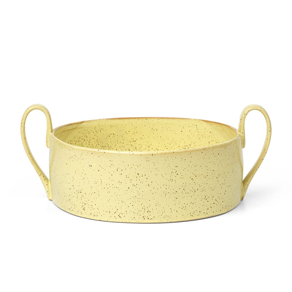 Flow Large Serving Bowl Yellow Speckle