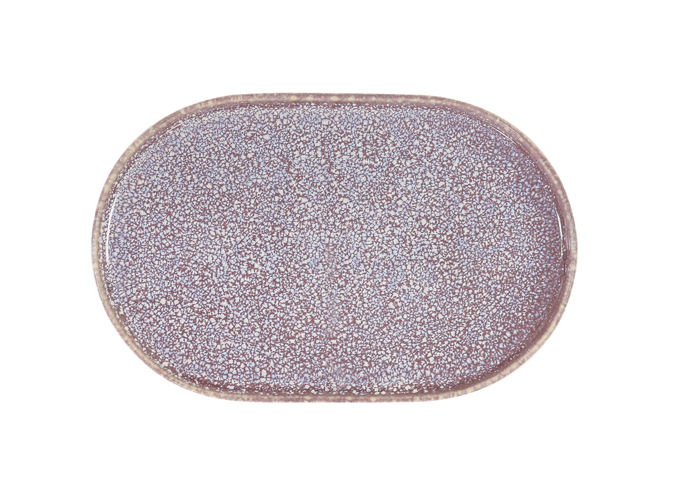 Oval Side Plate in Lilac