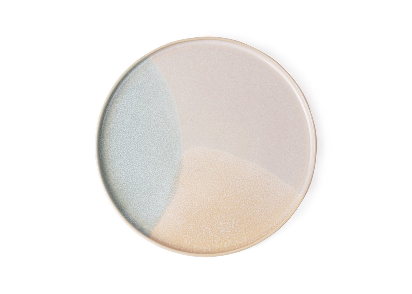 Round Side Plate in Mint/Nude