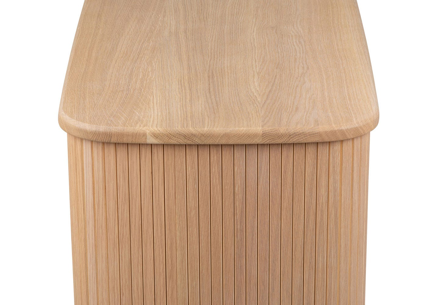 As shown: Solid oak top.
