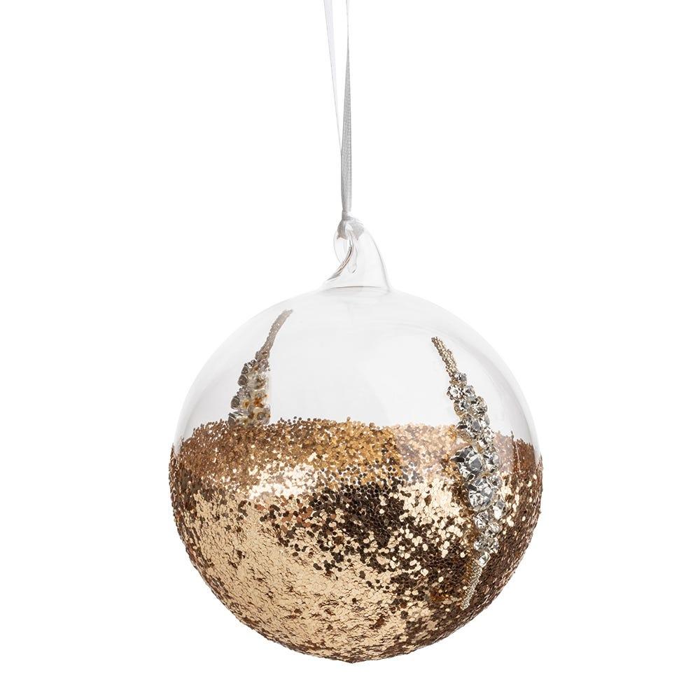 Gold Glitter Ball Large 10cm