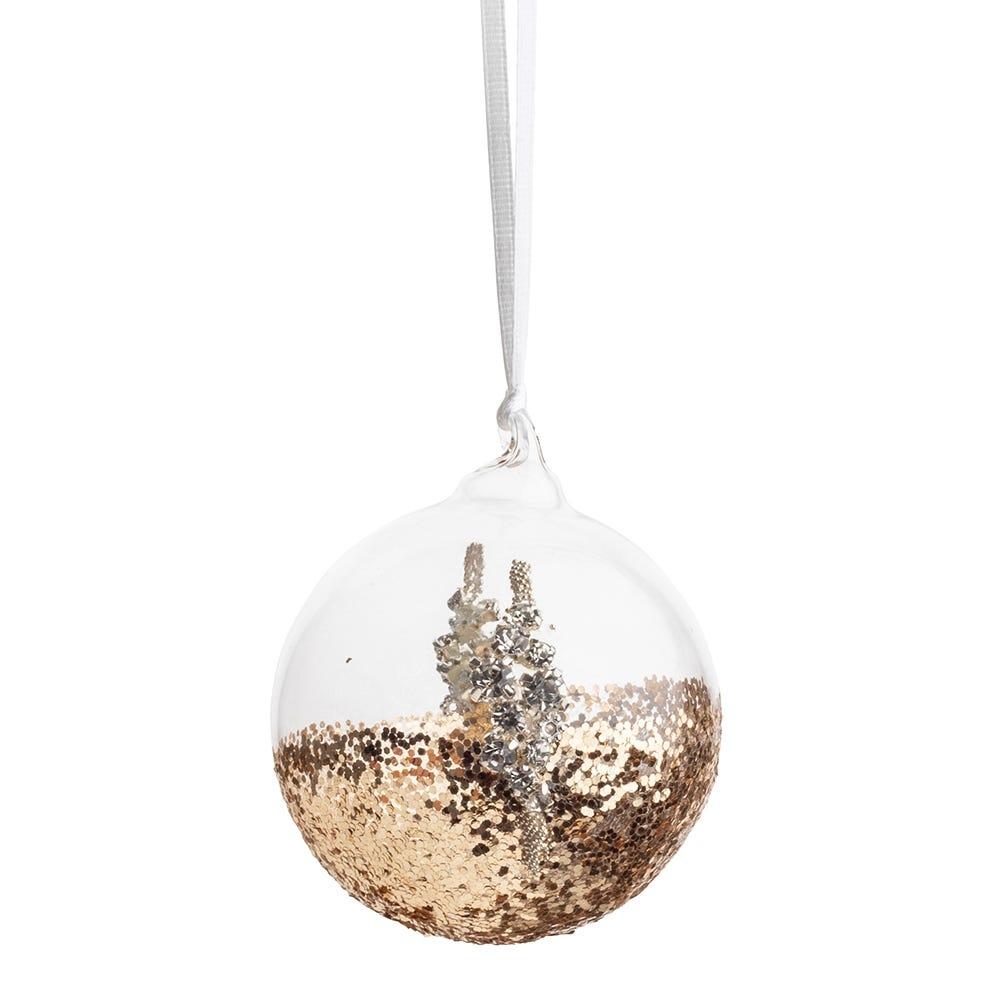 Gold Glitter Ball Small 6cm
