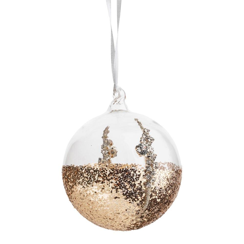 Gold Glitter Ball Medium 8cm