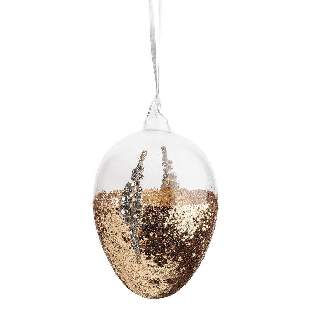 Gold Glitter Egg Medium 8cm