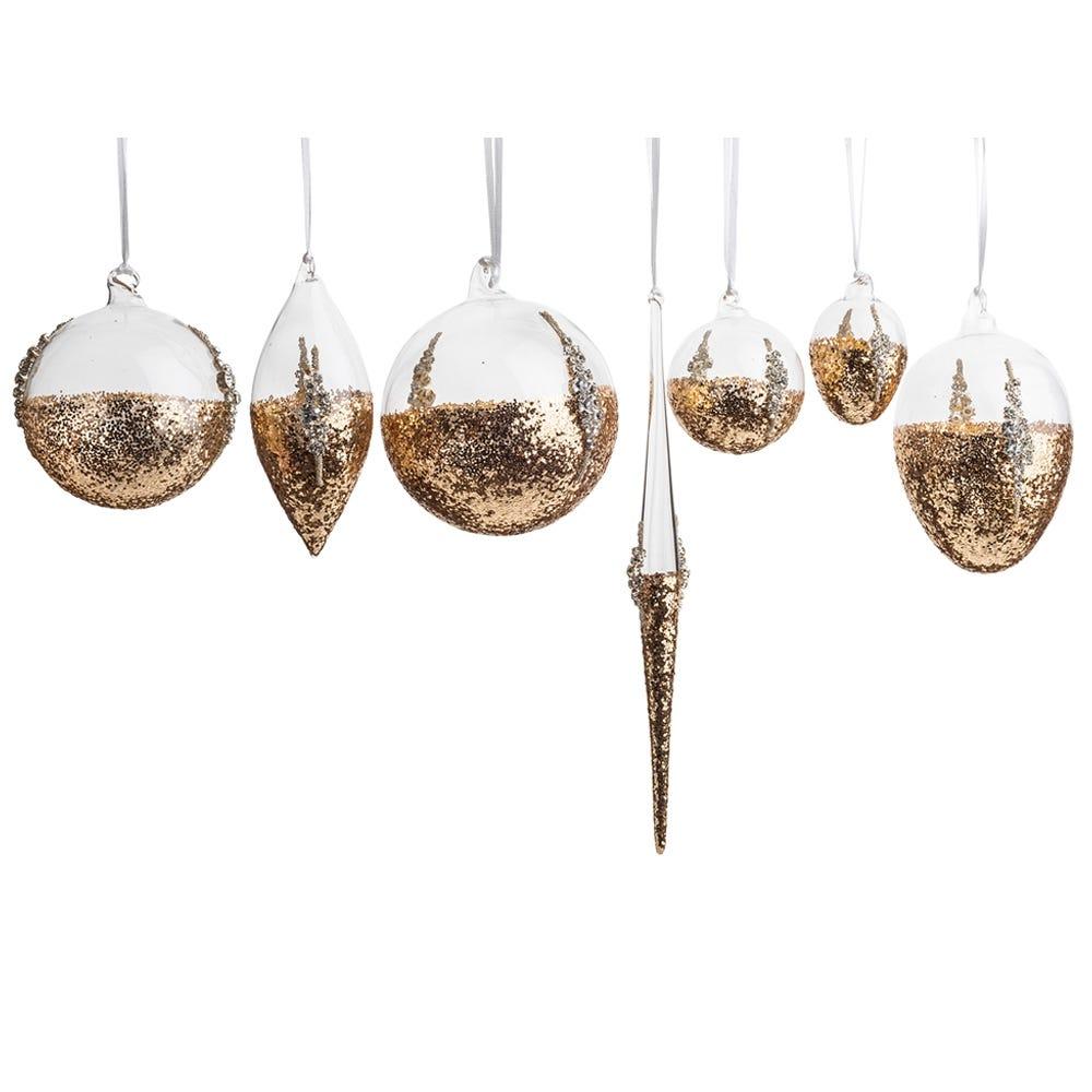Gold Glitter Bauble Decoration
