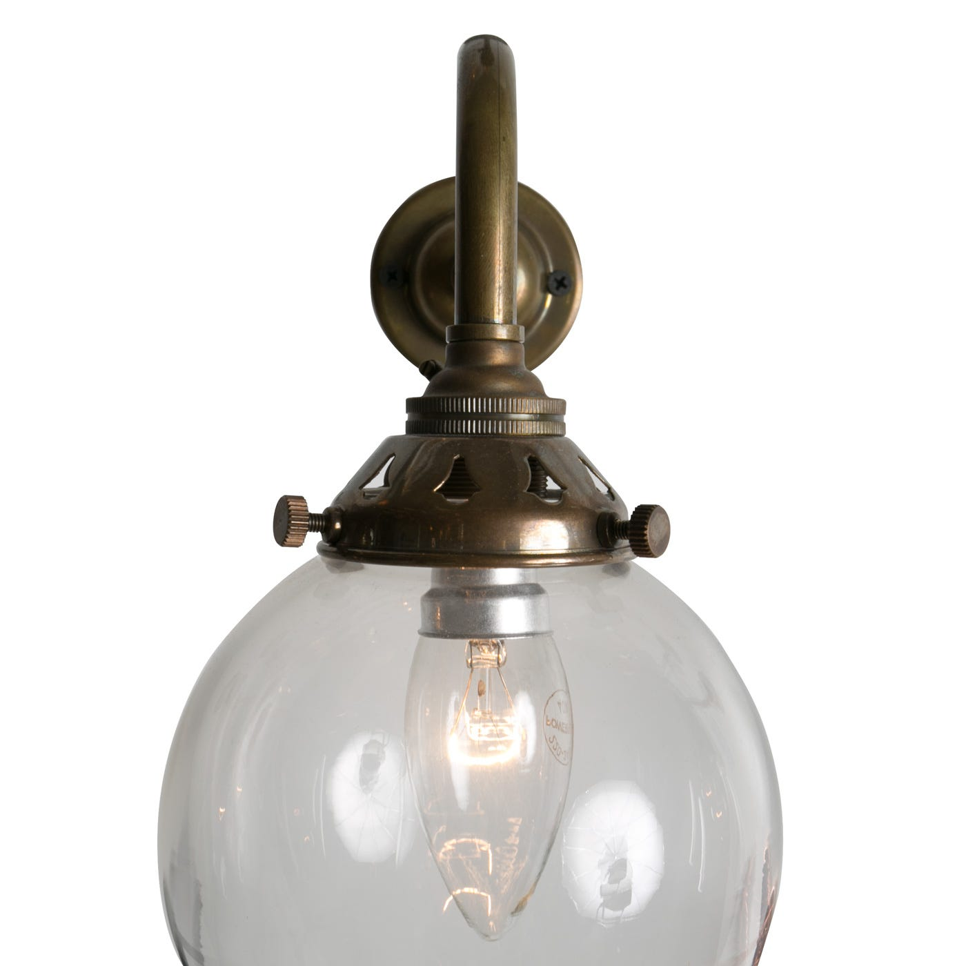 Old School Electric Glass Globe Wall Light Discontinued