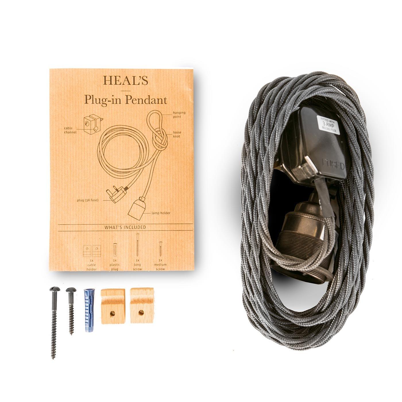 Heals plug in hanging pendant discontinued heals aloadofball Images