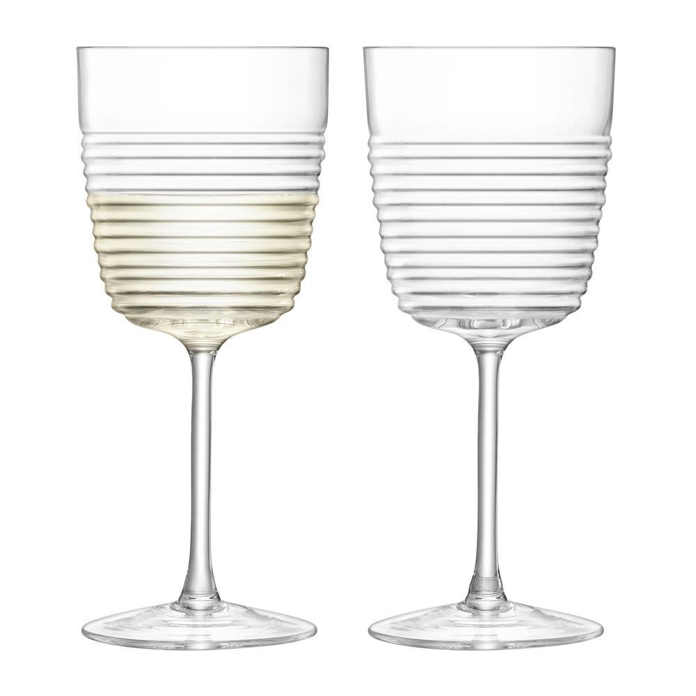 Groove Wine Glasses Set of 2