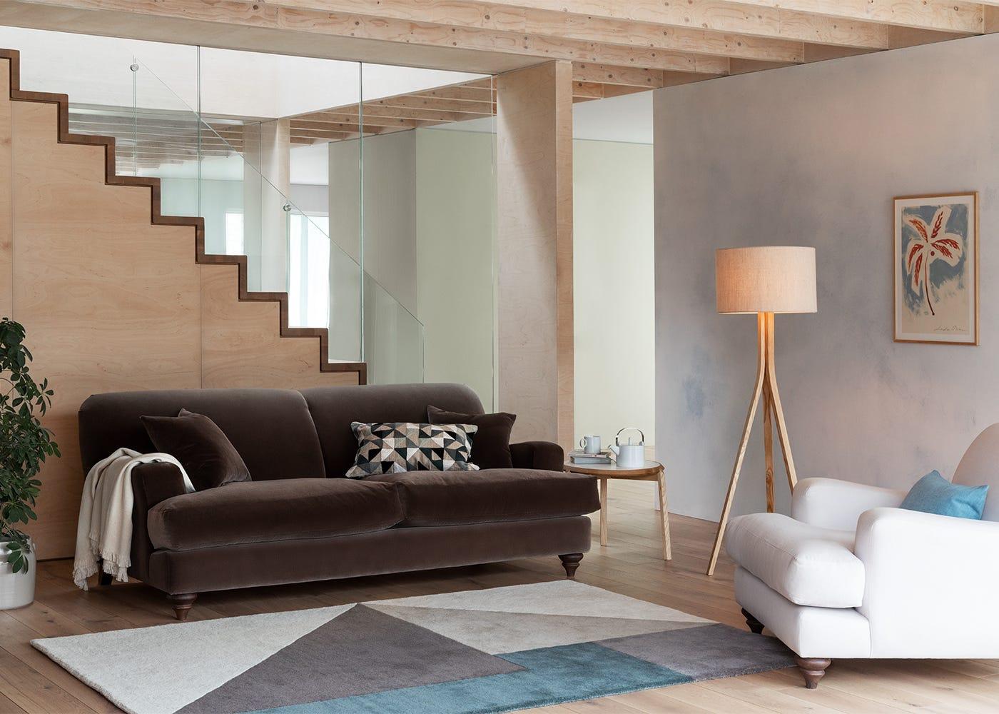Hampstead 3 Seater Sofa in Velvet Mink