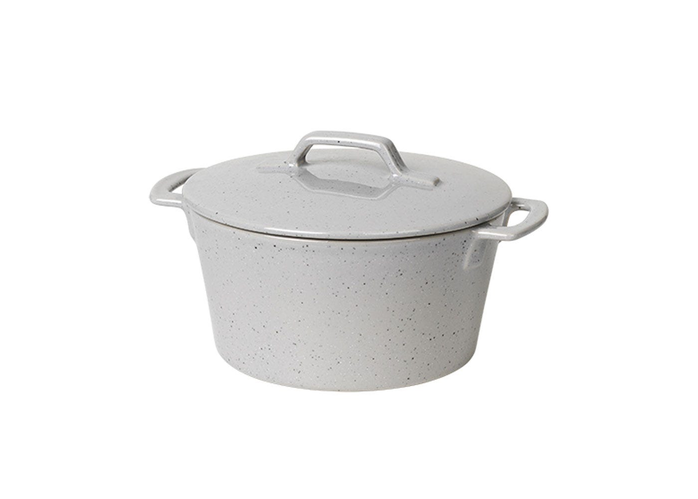 As Shown: Hasle Round Oven Dish with Lid in Light Grey
