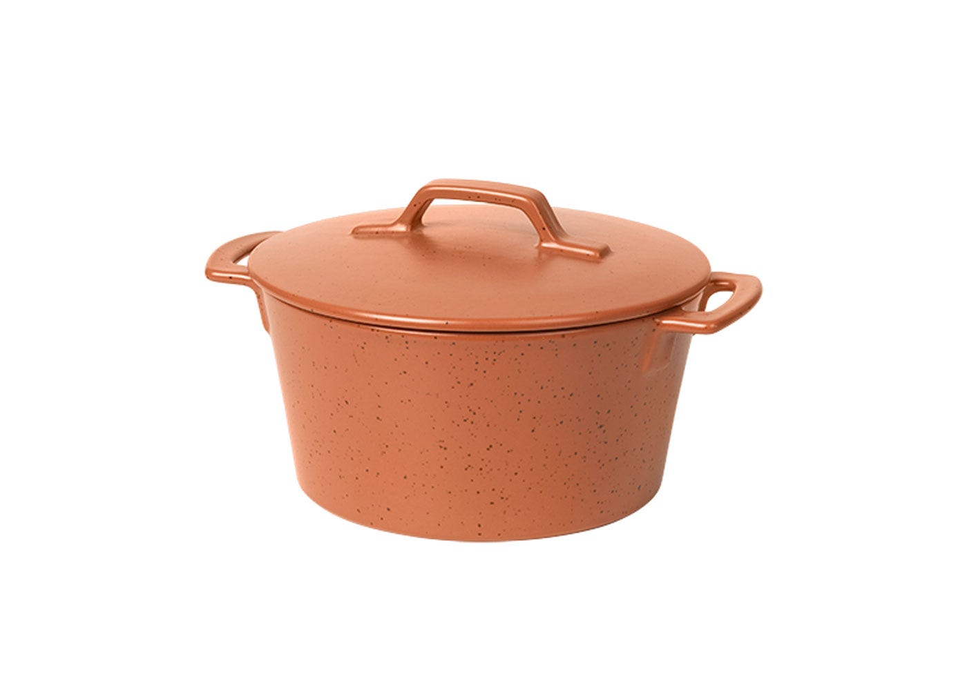 As Shown: Hasle Round Oven Dish with Lid in Red Granite