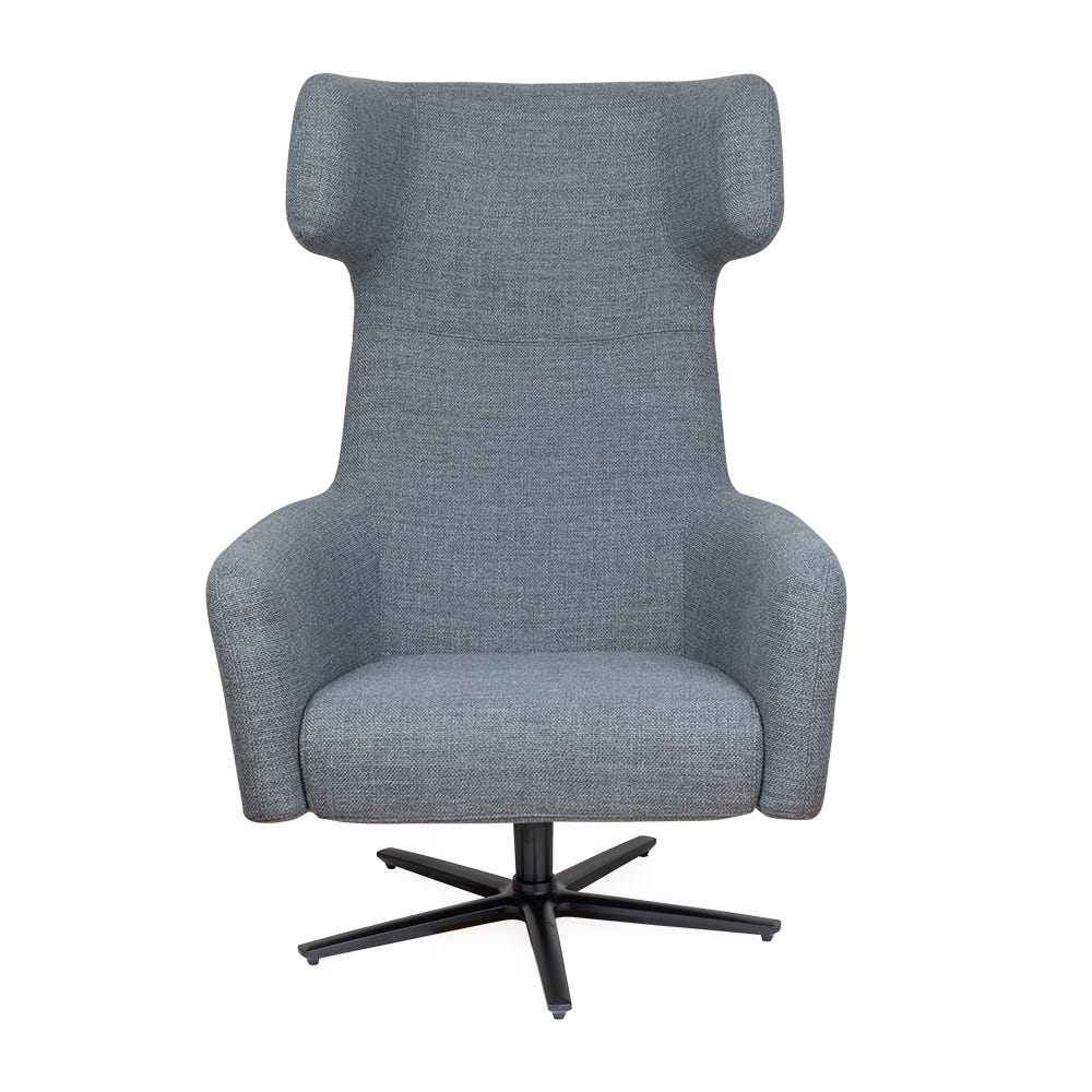 Havana Wing Chair Swivel Base Tundra Dark Grey