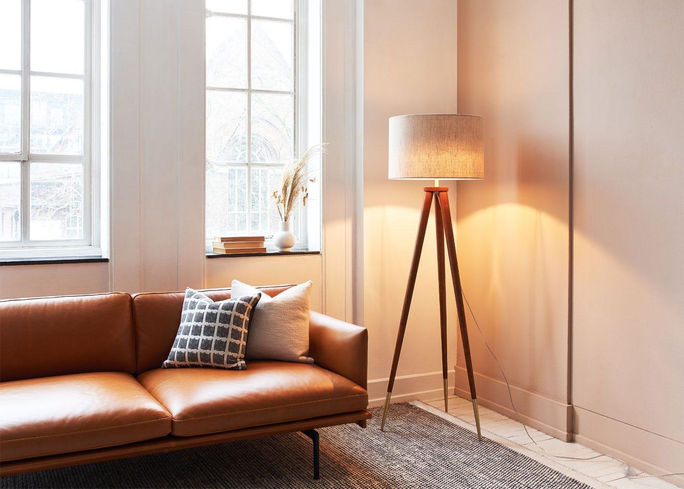 Hawkins floor lamp, Matera sofa.