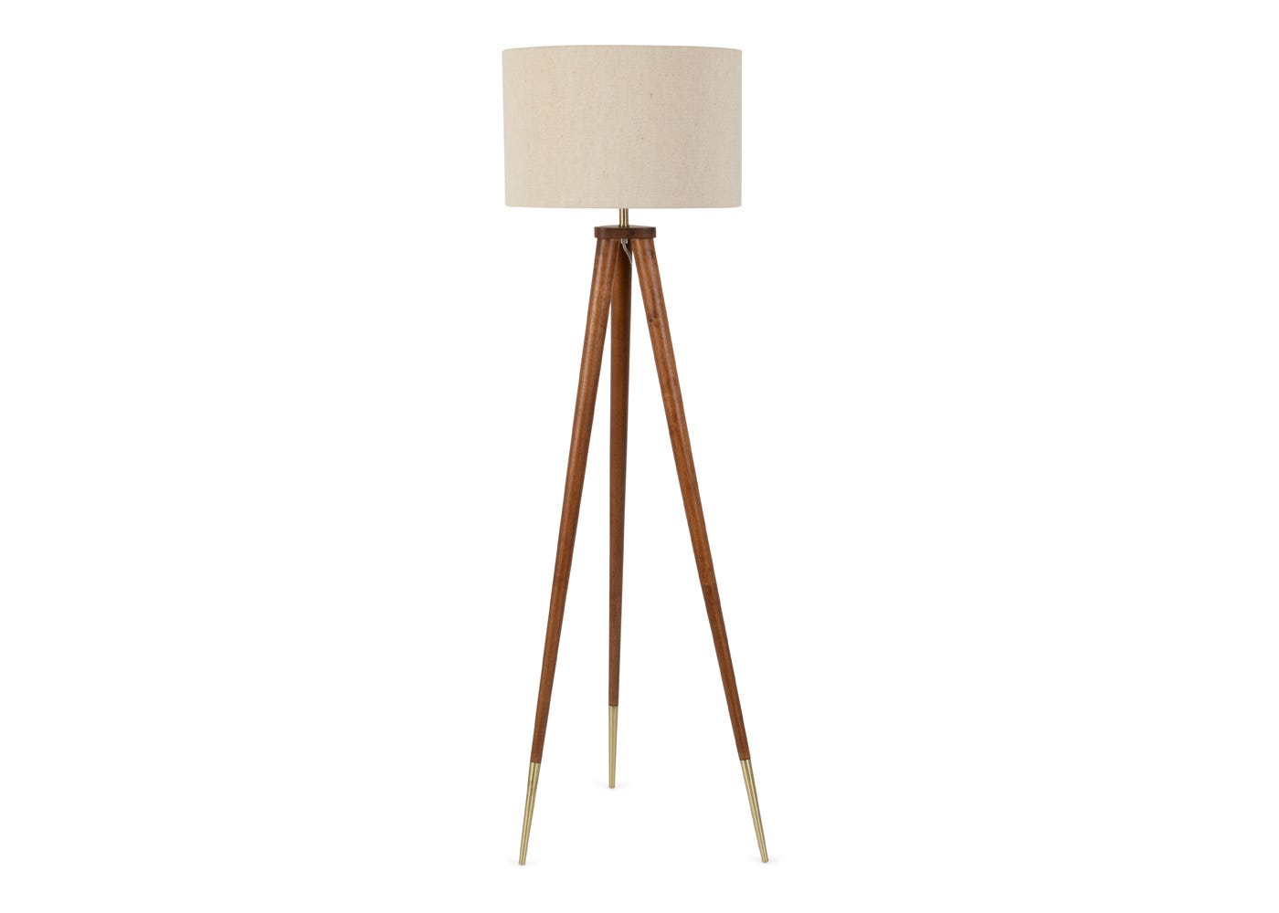 Hawkins Wooden Tripod Floor Lamp with Shade