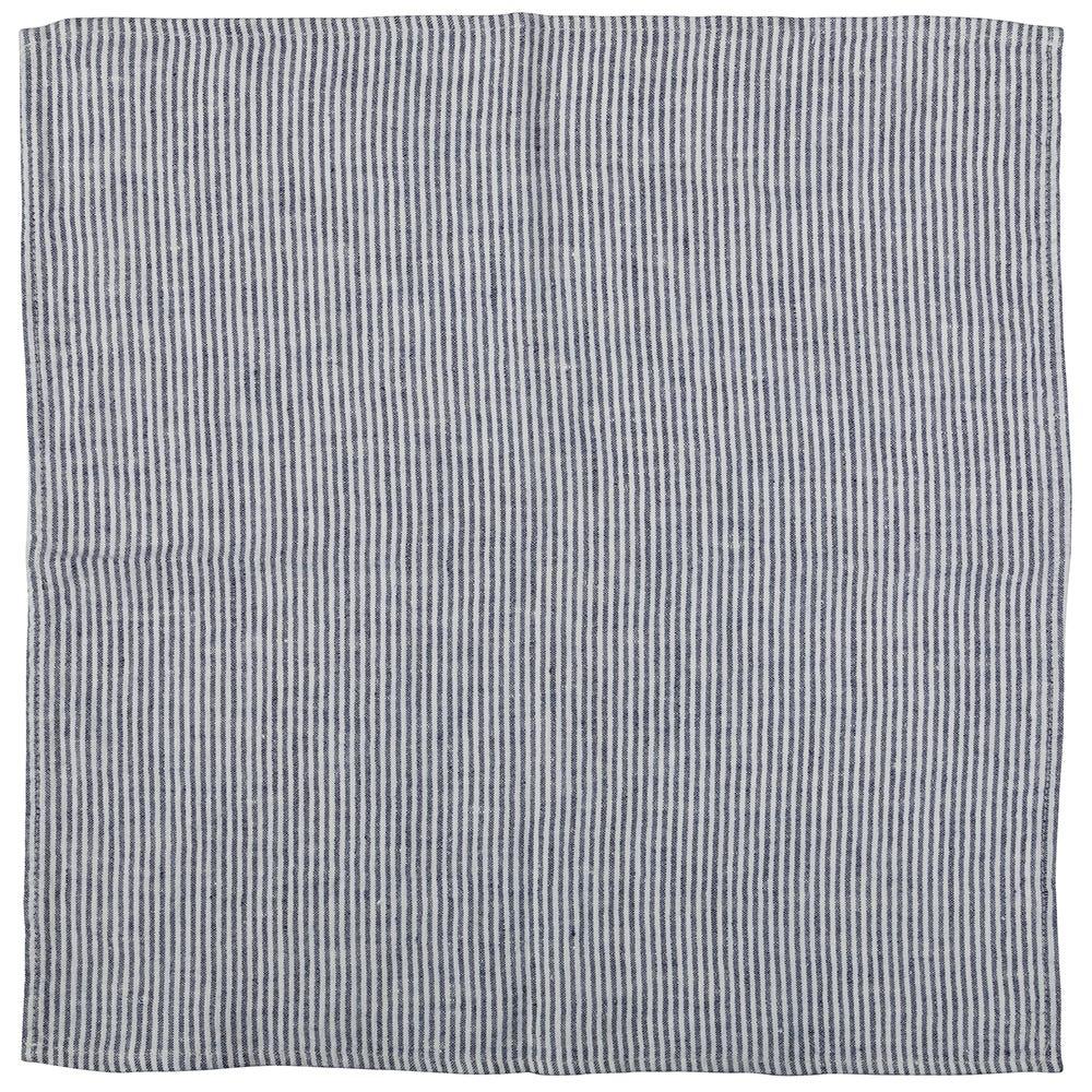 Heal's Linen Napkin Blue Stripe