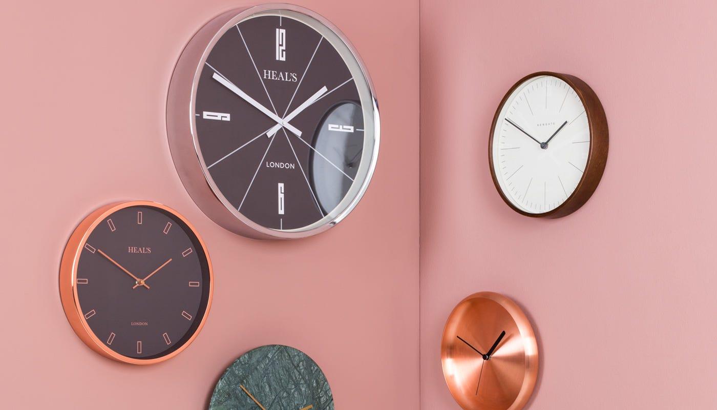 Mr Clarke Wall Clock Brass Large Heal S