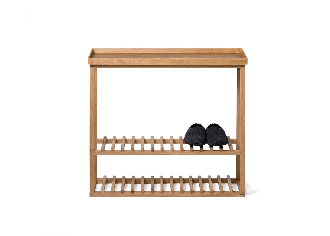 As Shown: Hello Storage Table Front with Shoes
