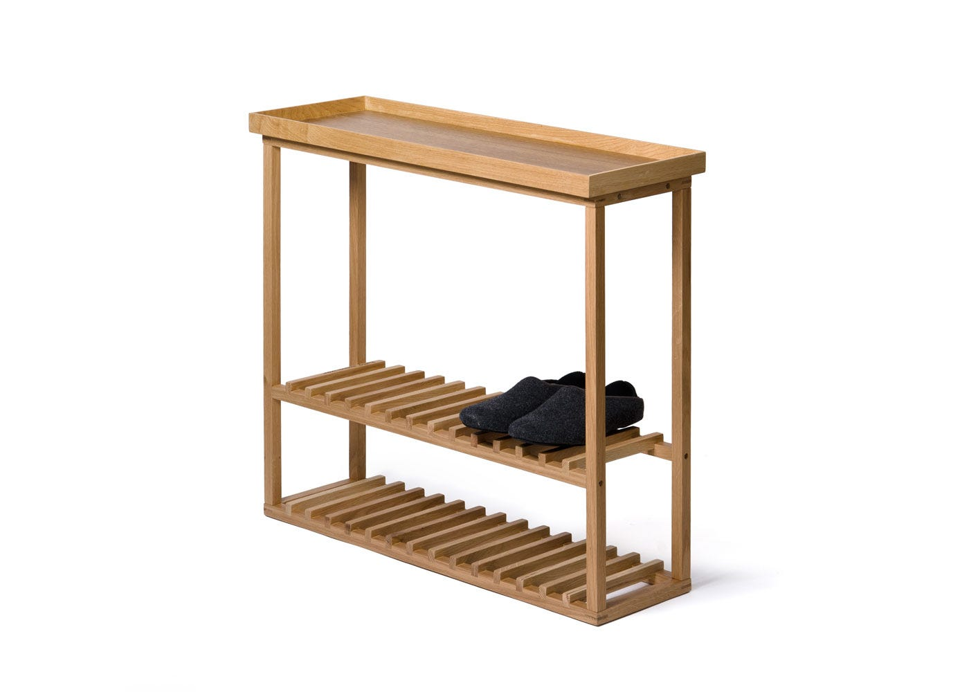 As Shown: Hello Storage Table Side with Shoes