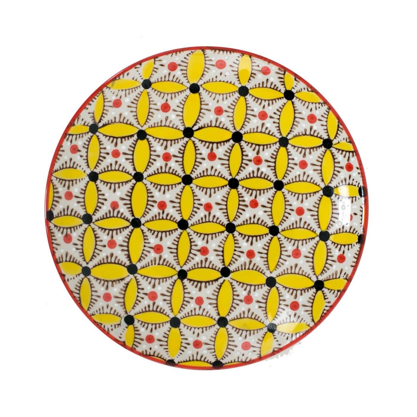Hippy Dinner Plate Yellow