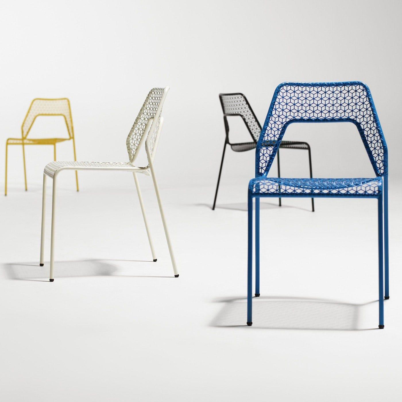 Blu dot hot mesh chair blue discontinued heals