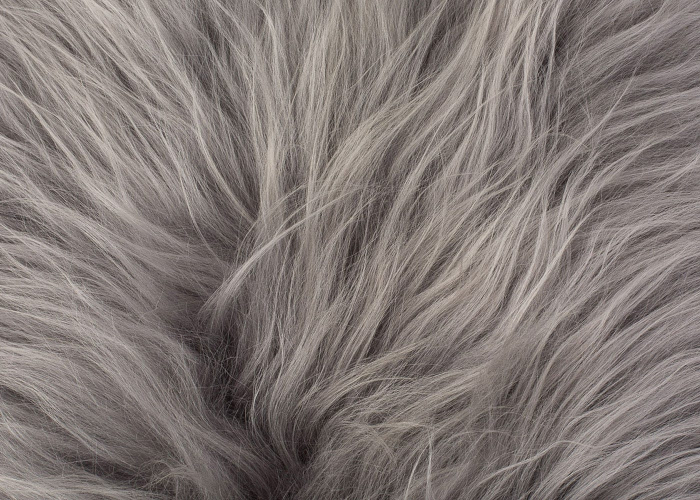 just some of the wonderful textures you can expect (Icelandic Sheepskin Rug Silver Grey)