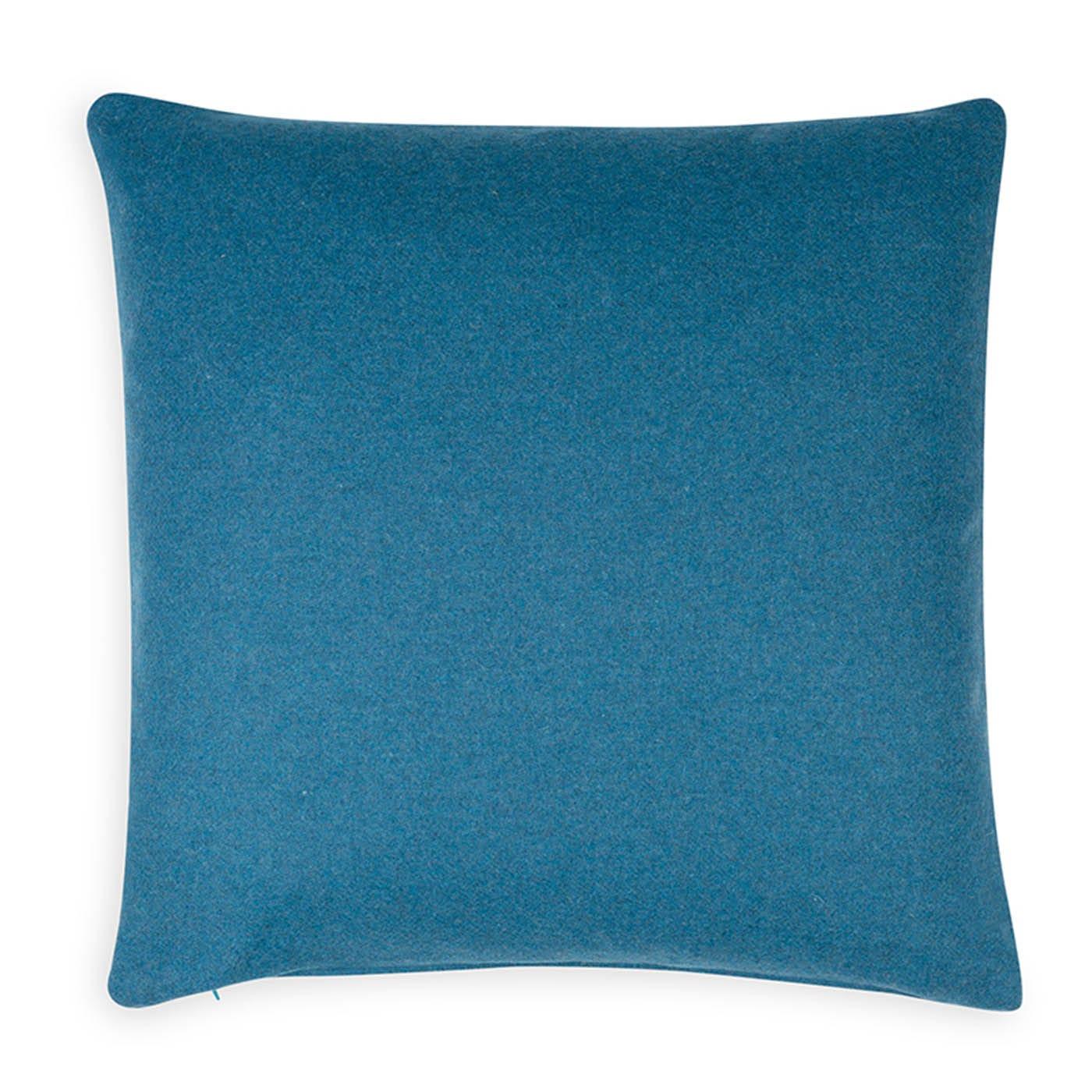 Islington Wool Cushion Cyan 45 x 45cm