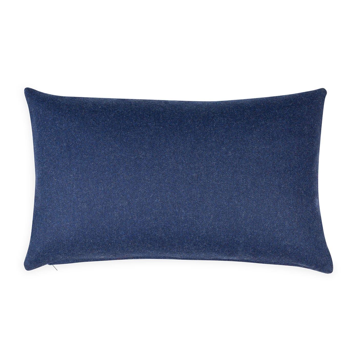 Islington Wool Cushion Navy 35 x 55cm