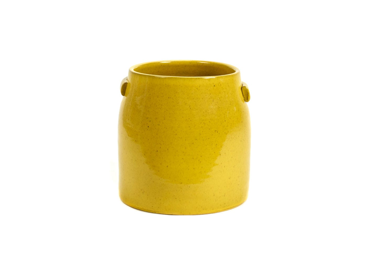As Shown: Jars Plant Pot Large in Yellow