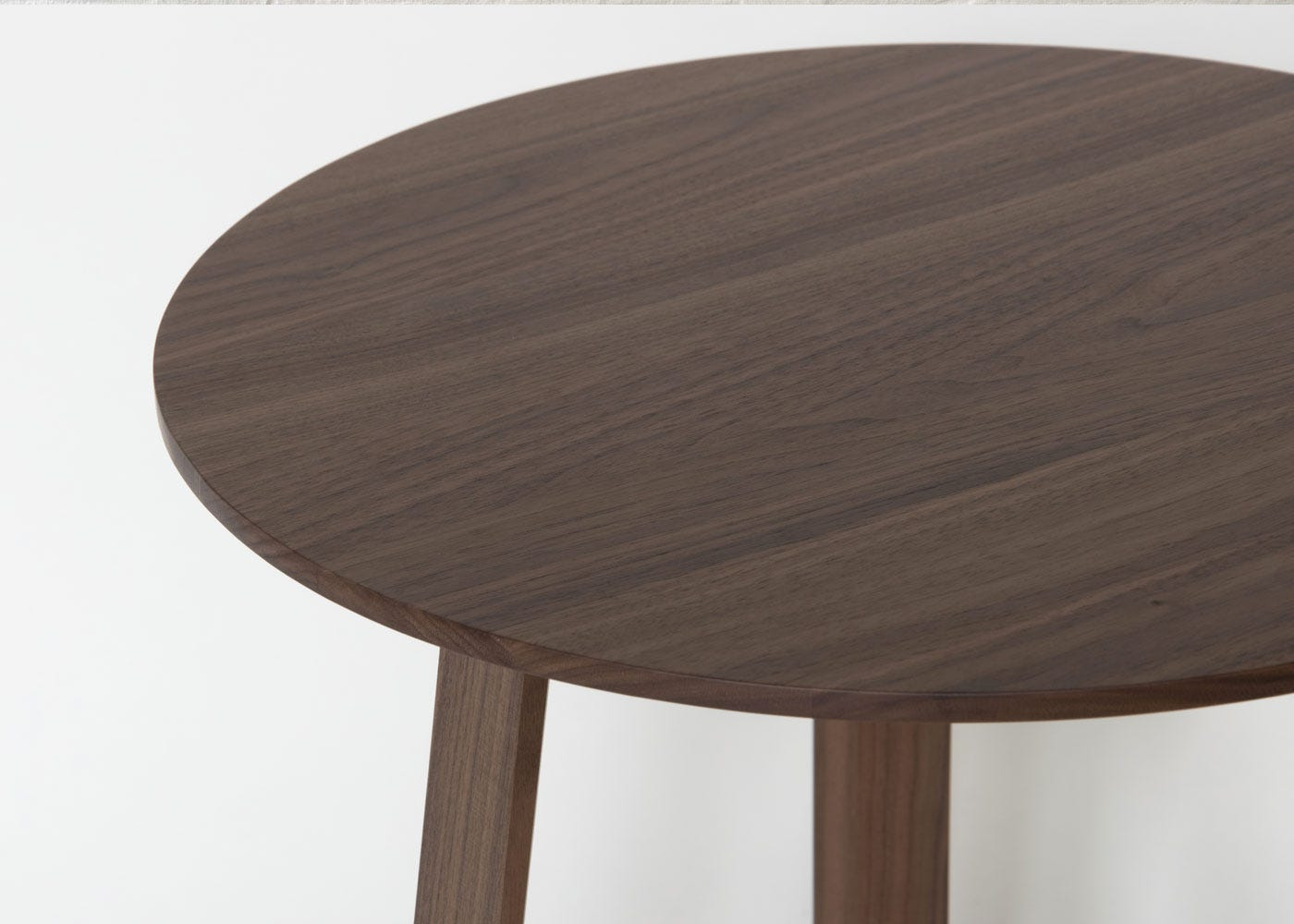As shown: Solid walnut table top.