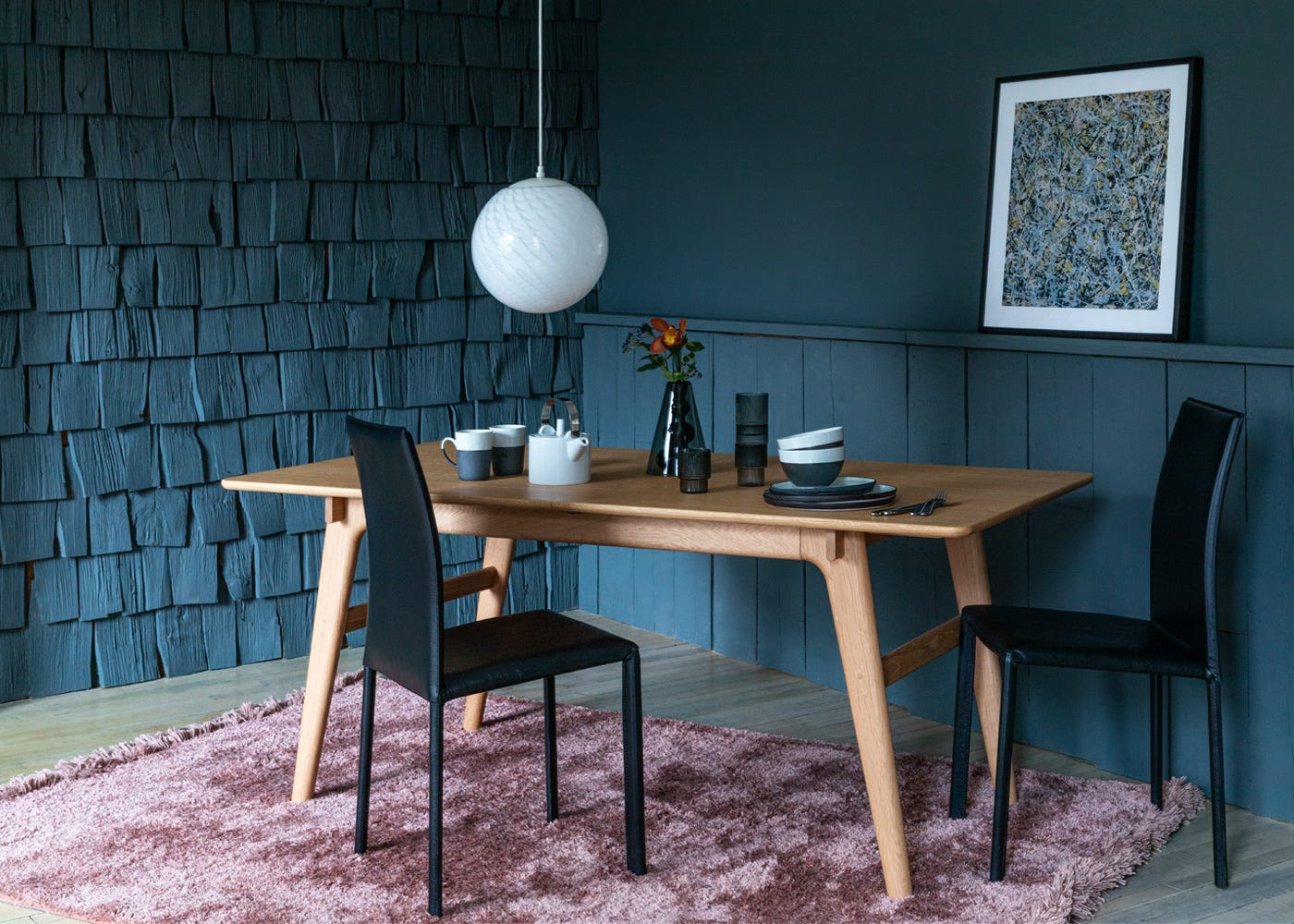 with the Blake Dining Table and Bronte Chairs