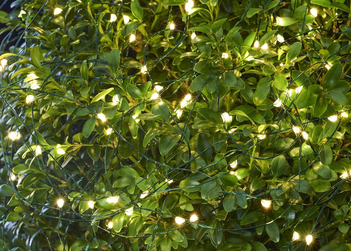 As shown: Knirke Solar 120 LED String Lights.