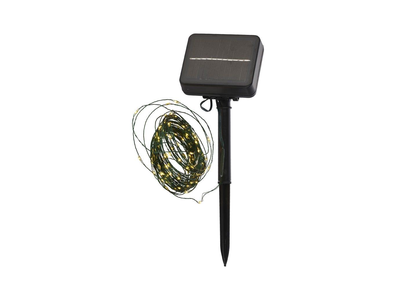 As shown: Knirke Solar 80 LED String Lights.