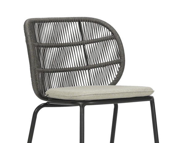 The gentle curved back provides a support and a stylish aesthetic. .
