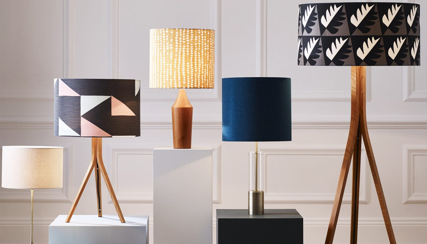 Heals freja table lamp base clear glass brass heals mozeypictures Image collections