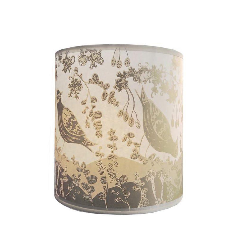 Lush Designs Siskin Lampshade Gold Lamp Fitting