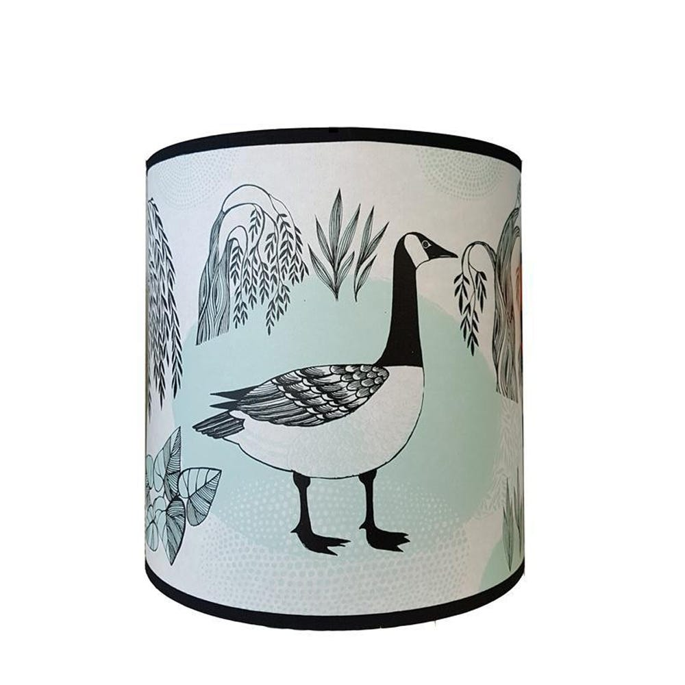 Lush Designs Goose Lampshade Teal Pendant Fitting