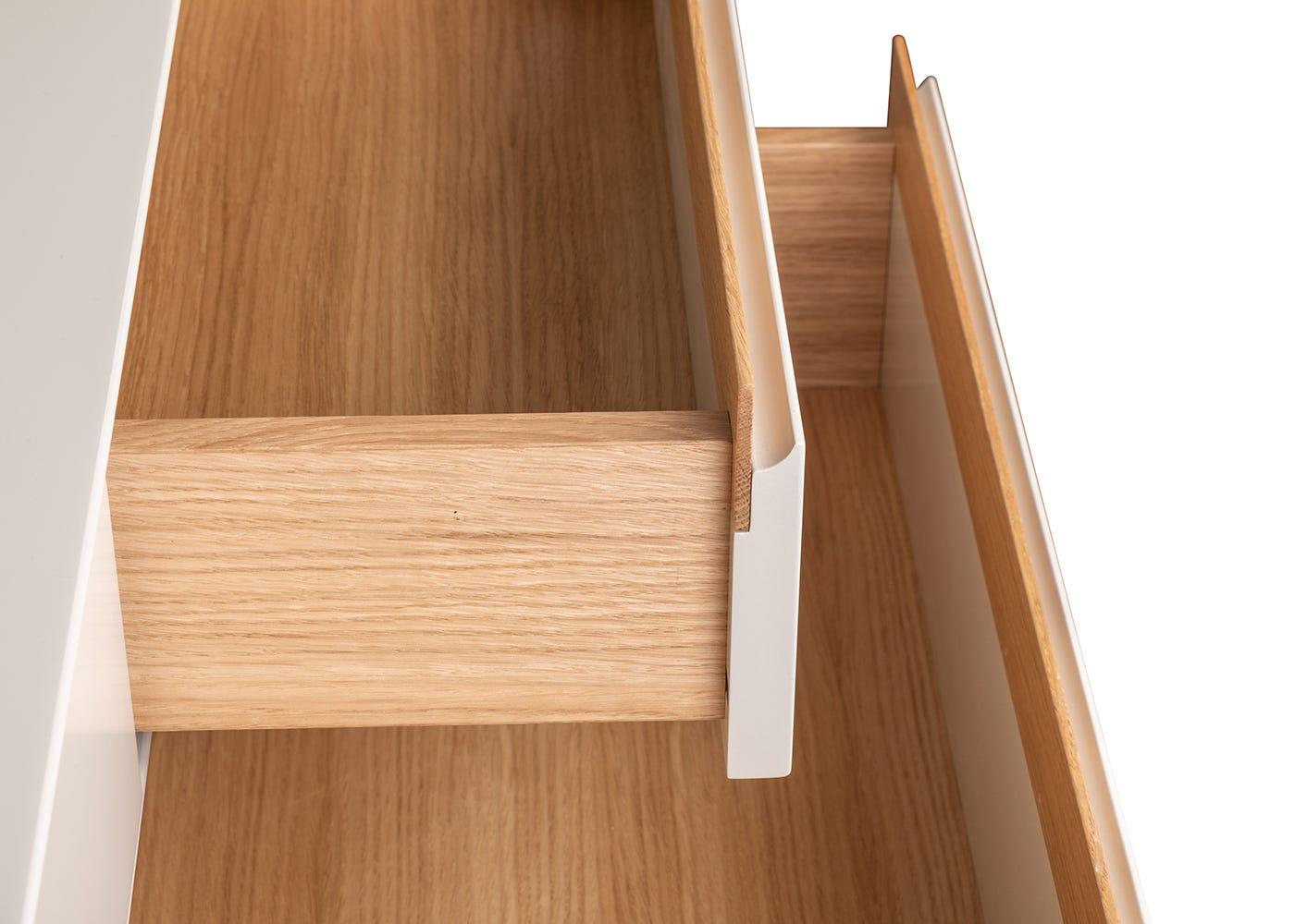 As shown: Oak drawers