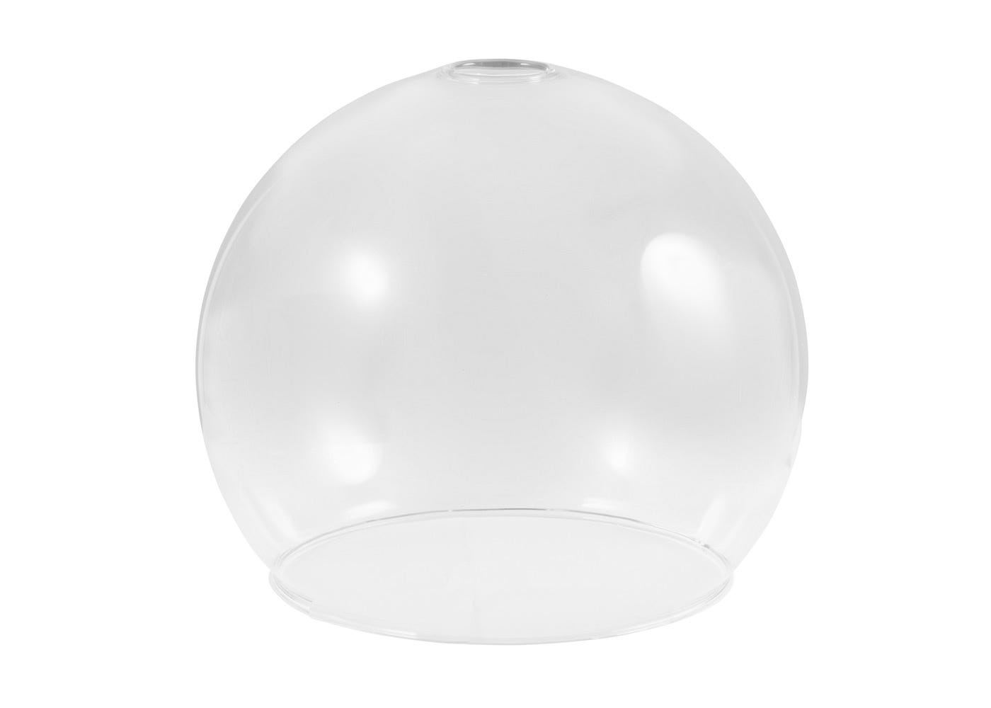 Clear glass shade