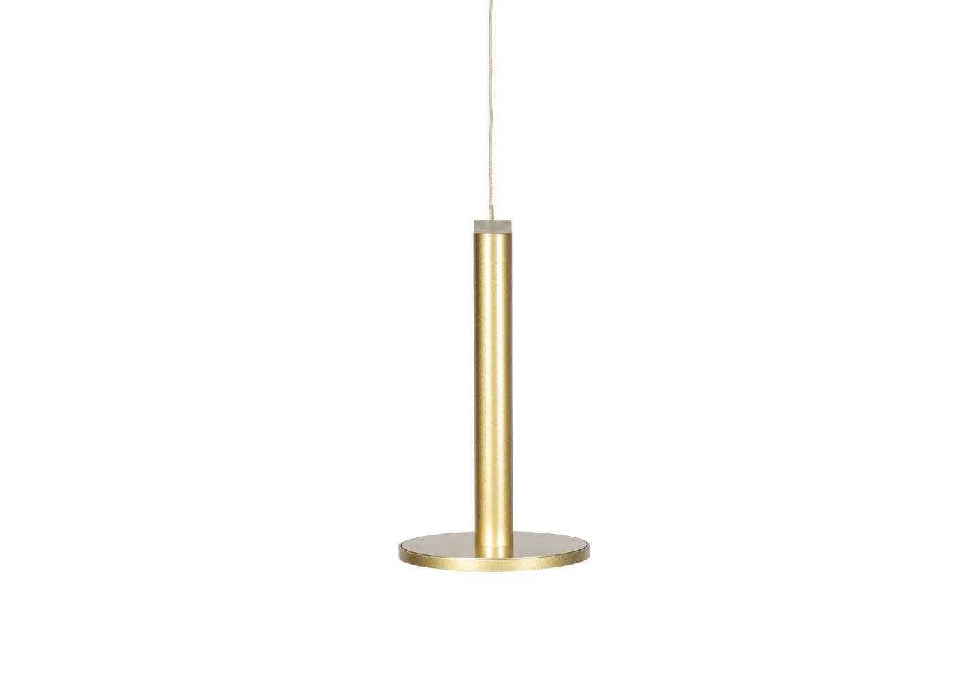 Disc LED Pendant light gold (off).