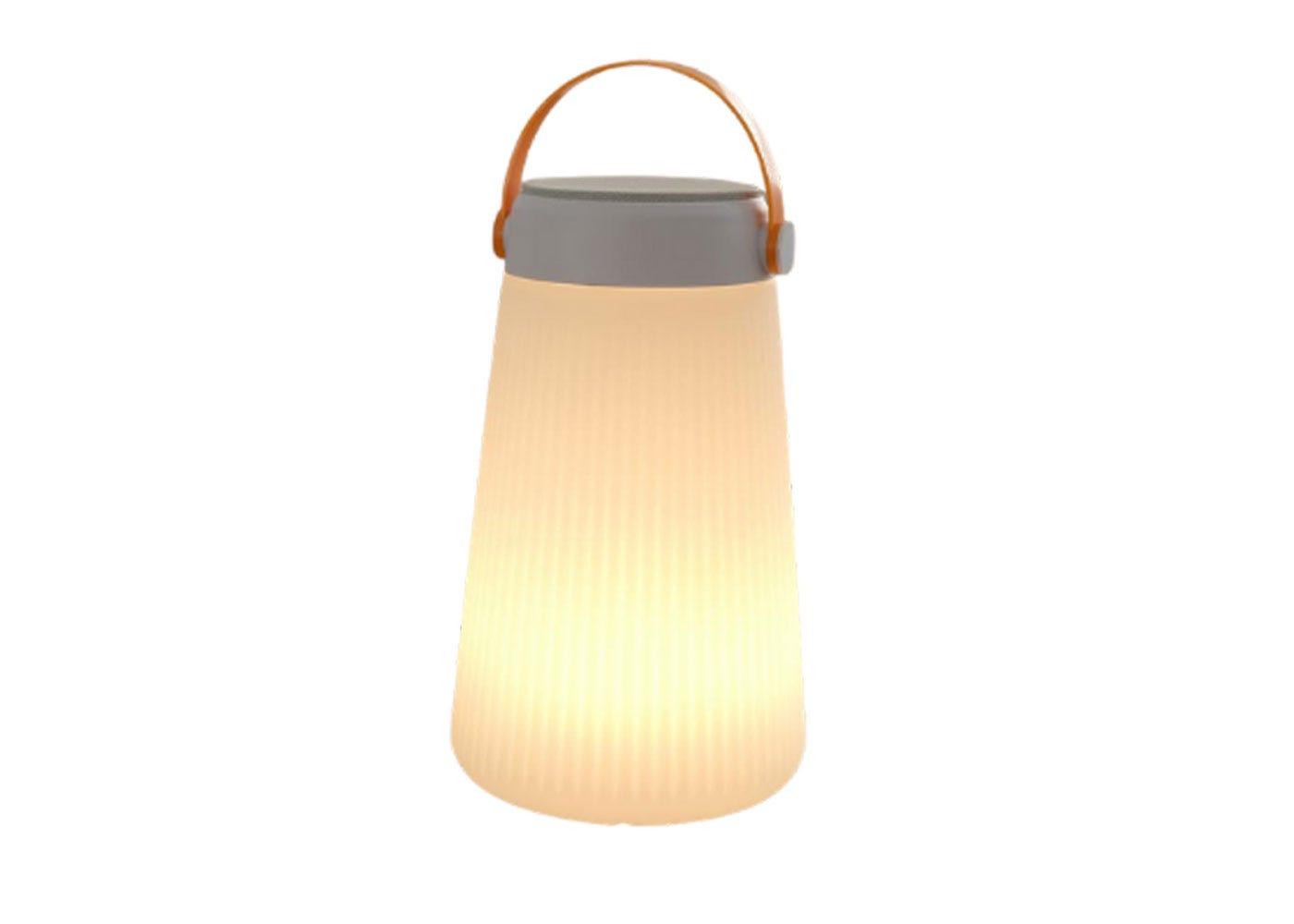 As shown: Lets Go Portable Speaker Lantern.
